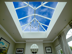 Atrium roof windows